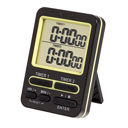 taylor 5880 Dual Event Digitaler Timer mit Uhr, Schwarz Taylor Timer