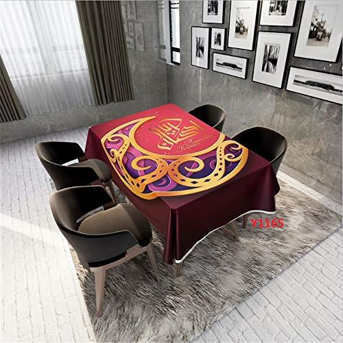 QWEASDZX Mantel Nationale Art Polyestergewebe ölbeständig und schmutzabweisend Tischdecke Jahrgang Wasser Geeignet für Innen- und Außen Reusable 150x150cm - Leder-stamm-tisch