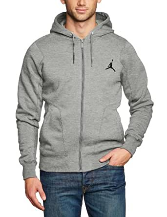 Nike Herren Jacke Jordan 23/7 Fleece Hoody, Grey Heather/Black, XXL, 547664-063