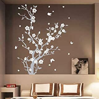 Large Blossom Flower Tree Butterfly Wall Arts/Wall Stickers/Wall Decals-2 colours