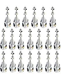 2d5dba627424 20 Piezas De Pendientes Cristal De Las Gotas Prismáticas De La Lámpara De  La Lágrima Adornos