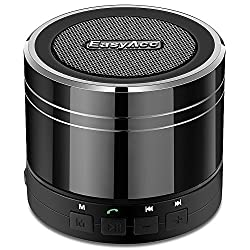EasyAcc Mini Portable Bluetooth 4.0 Lautsprecher Speaker mit Multifunktions (FM Radio, 3,5 mm Audio, Micro SD Karte Slot, Mikrofon) Schwarz