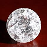 TIED RIBBONS Crackle Design Glass Crystal Ball for Water Fountains and Decoration (5 cm Diameter)