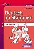 Deutsch an Stationen SPEZIAL Texte schreiben 1-2: Handlungsorientierte Materialien für die Klassen 1 und 2 (Stationentraining Grundschule Deutsch)