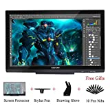 HUION KAMVAS GT-220 V2 Pen Display, 21.5 Pollici, 8192 Pressioni Monitor da 1920 x 1080 HD IPS Display a Penna per Windows e Mac Argento (Nero)
