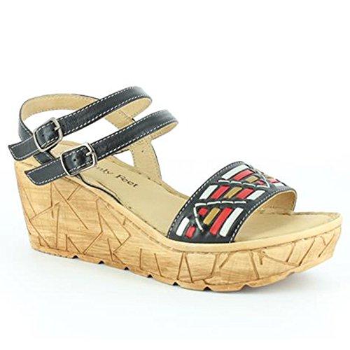 Heavenly Feet Heavenly Feet Sage Black Sandals, Sandali donna Black