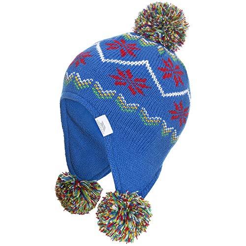 Trespass - Gorro con Orejeras para Invierno Modelo Twizzle para bebé (One Size) (Azul)