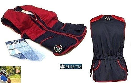 Beretta rot Weste für Tontaubenschießen 91,4cm Brust Medium Skeet Shooting Vest