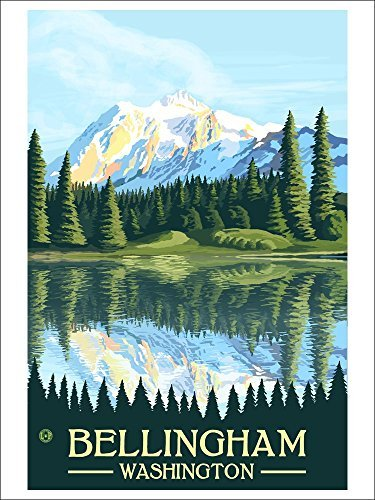 Bellingham, Washington Mount Shuksan (Playing Card Deck 52 Card Poker Size With Jokers)