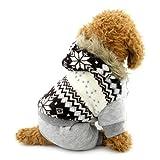 ranphy Welpen Kleiner Hund Overalls Winter Fleece Mantel Gefüttert Schneeflocke Puppy Jumpsuit mit Kapuze Outfit