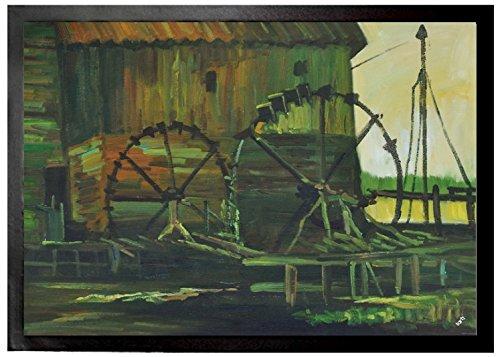 Vincent Van Gogh - Molino De Agua En Gennep, 1884 Felpudo Alfombrilla