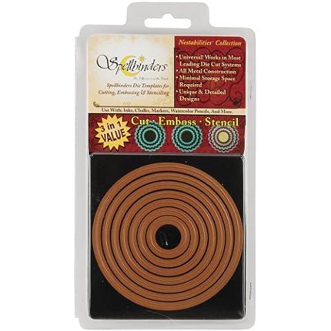 Spellbinders NEST-S4-114 - Producto para repujado, color dorado