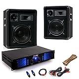 2400 Watt Einsteiger PA Anlage 2x Omnitronic Boxen Verstärker Kabel DJ-549