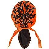 Bandana orange homme femme Celte Celtic Breton Bretagne arbre de vie orange noir