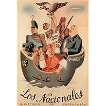 Vintage Spanish Civil War 1936–39Propaganda dell' nazionali. rilasciato dal Ministero di Propaganda 250mq Art poster A3riproduzione lucida