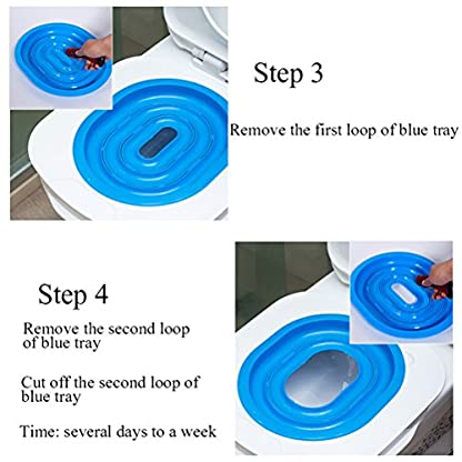 UEETEK Pet Toilet Training Seat for Cats Potty Training Tray Cats Kit (Blue) 5