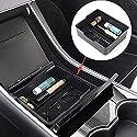 Baiwka Mittelkonsolen-Organizer-Fach, Auto-Mittelarmlehnen-Aufbewahrungsbox Mit Rutschfester Armlehnenpalette, Münze, Mobiltelefon-Aufbewahrungsbehälter Für Tesla-Modell 3