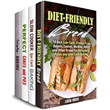 Healthy Baking Box Set (4 in 1): Over 130 Low Carb Breads, Cakes, Pies and Other Sweet and Savory Comfort Treats (Baked Comfort Treats) (English Edition)