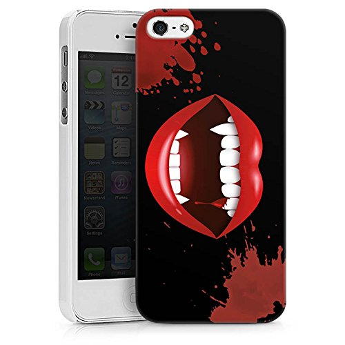 Apple iPhone 7 Plus Silikon Hülle Case Schutzhülle Vampir Halloween Lippen Hard Case weiß
