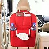 #6: ASkyl Car Back Seat Organizer Storage Bag Multi-Pocket Hanging Organiser Collector / car mobile holder / car tissue paper holder / car water bottle holder Red