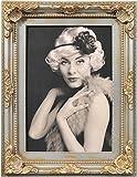 Henzo 8145115 Antique Barok Bilderrahmen, Plastik, Grau, 10 x 15 x 2 cm