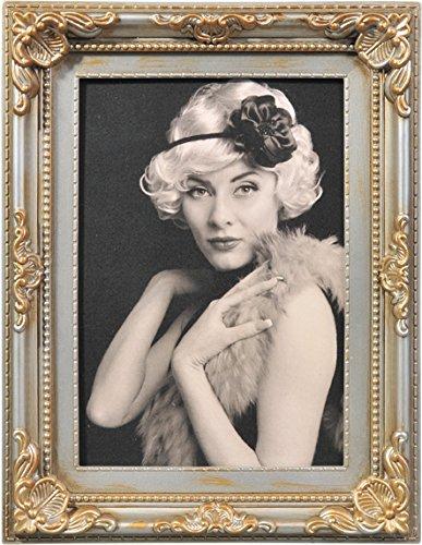 De estilo barroco Marco de fotos de plástico de colour en 10 x 15 13 x 18 x 15 20 x 30 x 40 de calidad de imagen de marco de fotos de: colour: plata envejecida | Tamaño: 10 x 15