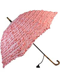 Blooming Brollies Boutique Fifi Frilly–Stick paraguas–rosa