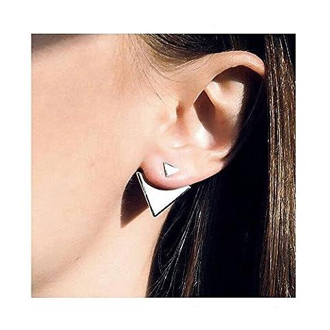 Geometrische Dreiecke Ohrstecker Für Frauen 2 Paar Gold / Silber (Dreieck Ohrringe A)