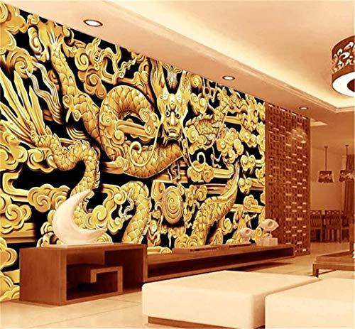 personalizzato murale foto 3d carta da parati soggiorno cinese vento drago...