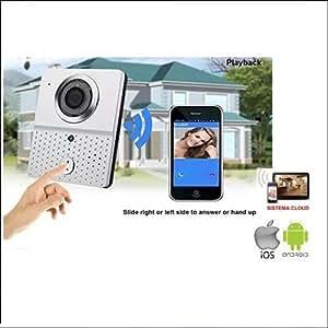 VIDEOCITOFONO WIFI WIRELESS CON TELECAMERA HD CHIAMATA REMOTA SMARTPHONE TABLET: Amazon.it ...