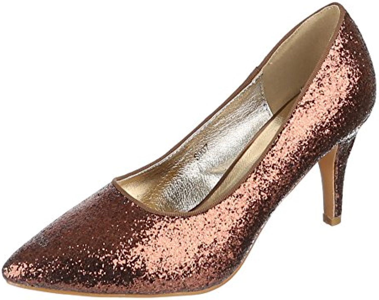 Ital-Design Damen Schuhe S007 Pumps High Heels