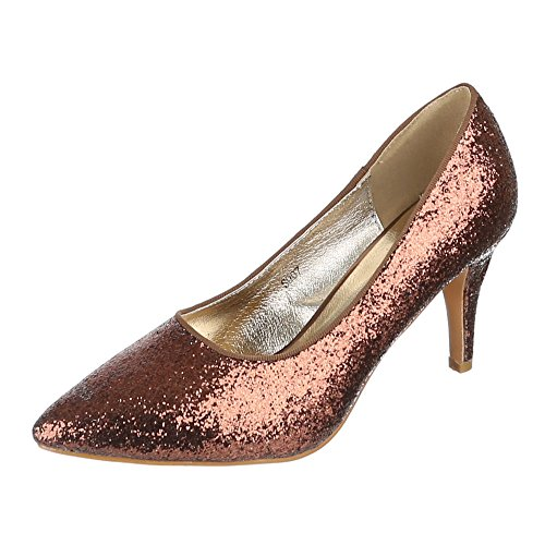 Damen Schuhe, S007, PUMPS HIGH HEELS Bronze
