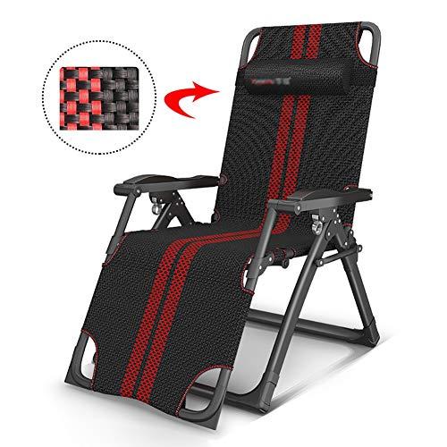 Deckchairs Liegestühle Große Chaise Lounges w/Kissen, Tragbare Faltbare Schwerelosigkeitsstühle für Poolside, Yard, Strand Oder Balkon - Entlasten Den Druck