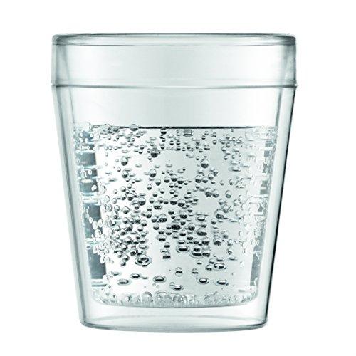Bodum 11614-10 Mensa 1-Piece Outdoor Set di 2 bicchieri di plastica a doppia parete con 0,25 litri Cancella