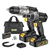 Cordless Drill 60Nm and Impact Driver 180Nm, 18V