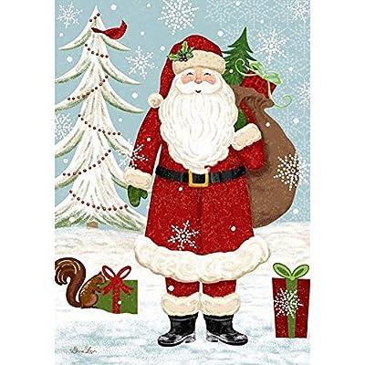 """Hankyky Weihnachtsgarten Flagge Winter Hof Outdoor Decor 100D Polyester Saisonale Festliche Urlaub Flags 12""""x 18"""" von Hankyky - Gartenmöbel von Du und Dein Garten"""