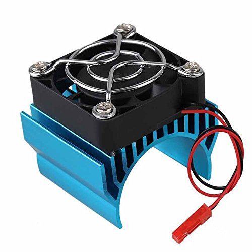 Generic Aluminum Motor Heatsink Kühlkörper Kühler for 1/10 RC Car 40mm Motor 540/550 - Blau -
