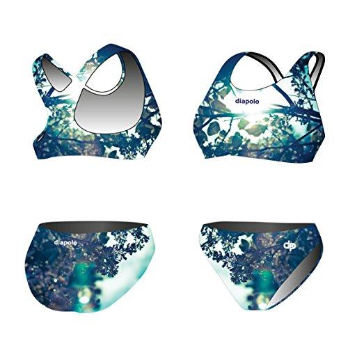 Diapolo Syringa Sport-Bikini Zweiteiler aus der Spring Kollektion für Schwimmen Synchronschwimmen Wasserball Thriathlon normale Träger