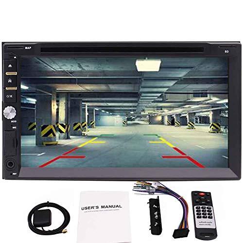 -DIN-kapazitive Touchscreen-Auto GPS-Navigation HiFi-Anlage im Schlag-Auto-DVD-Spielern Autoradio Bluetooth USB/SD/MMC/Aux-in FM/AM-Radioempf?nger mit freier 8GB Karten-Ka ()
