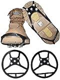 Schuhspikes 34 - 38 Grösse M Spikes NEU Rutschfest Schuhe Gummi Kinder Aufsatz schwarz Metall Schuh Schneeschuh