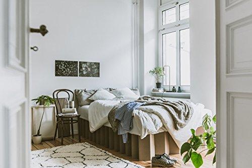 ROOM IN A BOX | Bett 2.0 S/N: Nachhaltiges Klappbett aus Wellpappe in der Größe 90 x 200 cm und alle Zwischengrößen. Ideal auch als praktisches Gästebett, da leicht verstaubar und ein Lattenrost nicht benötigt wird. - 5