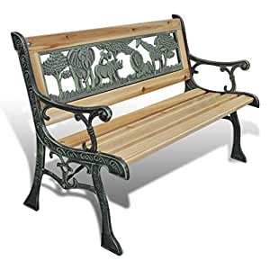 vidaxl gartenbank sitzbank gartenm bel holzbank bank parkbank f r kinder 80x24cm. Black Bedroom Furniture Sets. Home Design Ideas