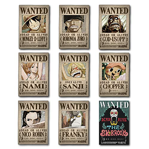One Piece HD Wanted Poster [42x30cm]