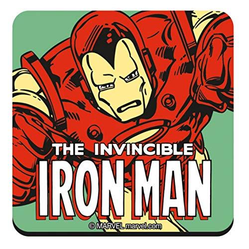 Original Marvel Comics The Invincible Iron Man Single Untersetzer Getränke-Matte Vintage Retro