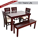Furny Montoya Dining Table Set - with Bench (Six Seater)