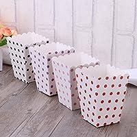 TOYMYTOY 48pcs cajas de palomitas titular recipientes cajas de cartón bolsas de papel caja de puntos