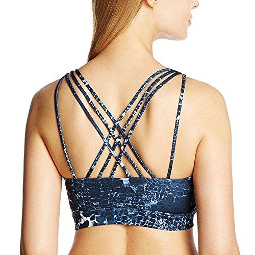 Sunny&Baby Cinture da ginnastica Yoga per donna Workout Running Gym Racerback Reggiseno Minimizer per le signore Confortevole ( Color : Black , Size : M ) Blue