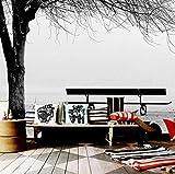 3D Fototapete Wandbild Schwarz Weiß Big Tree Bank Abstrakte Kunst Wandmalerei Moderne Wohnzimmer Sofa Fernseher Hintergrund Dekor, 260X180 Cm (102,36X70,87 In)