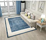 80x120cm, Personalizza Tappeto | Tappeto moderno quadrato geometrico semplice blu nordico, regalo di Natale, Halloween, nuovo anno