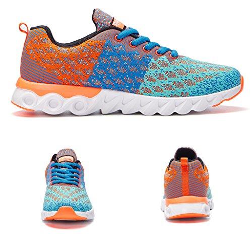 Scarpe da corsa uomo Uomo Scarpe da tennis traspirante ultraleggeri Scarpe da corsa Scarpe da passeggio allaperto Arancione